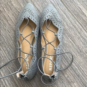 Report Laser Cut Strappy Flats
